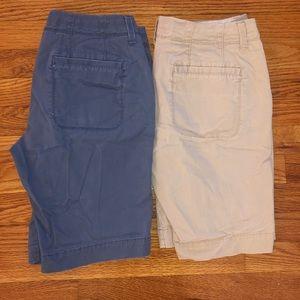 Old Navy Perfect Bermuda Shorts 2 Pair Bundle